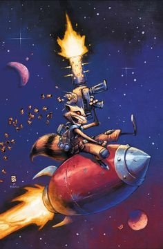 Rocket Raccoon #2 by Skottie Young at http://skottieyoung.com/post/89068597106