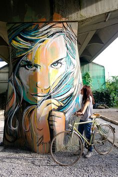 villaggio olimpico   #AlicePasquini- More #streetart at www.Streetart.nl