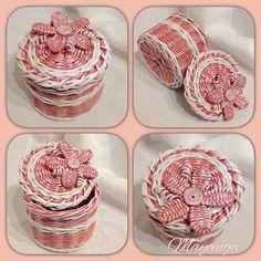 Плетёные изделия из бумажной лозы .   VK
