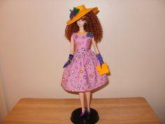OOAK dress for Silkstone Barbie for sale in my Etsy shop.