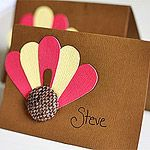 Button Place Cards - fun for the kids to make.