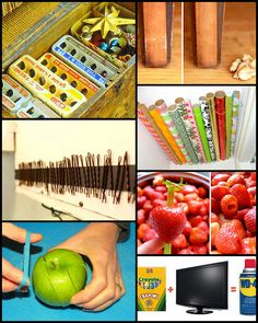 Hull strawberries with a plastic straw, use a walnut to buff out scratches in wood, hang bobby pins on the inside of a medicine cabinet with a magnet strip and more home remedy tricks.