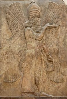 Relief from the north wall of the Palace of king Sargon II at Dur Sharrukin in Assyria (now Khorsabad in Iraq), 716–713 BC.