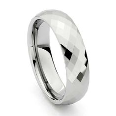 Valentines Day 6mm Faceted Cobalt Free Tungsten Carbide COMFORT-FIT Wedding Band Ring for Men and Women (Size 5 to 15) The World Jewelry Center. $18.00. Tungsten has a tendency to break when hit with a hard material. Promptly Packaged with Free Gift Box and Gift Bag. scratch proof
