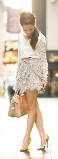 Lace Tiered Top & Delicate Skirt by Wendy's Lookbook