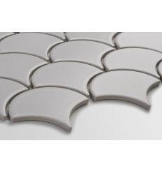 Flabellum grey, mat mozaika ceramiczna w kształcie rybiej łuski Grey, Moroccan Tiles, Brick Patios, Gray