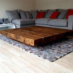 Charmant Similar To Our Chunky 2 And 3 Step Coffee Tables But A LOT BIGGER, The Big  One Makes A Real Impact! Handmade From Pine Sleepers And Finished In Our ...