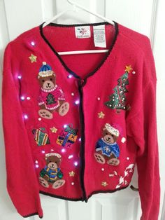 Lighted ugly christmas sweater. via Etsy.  I have to buy this for my god daughter