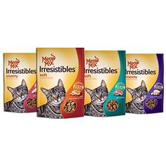 Meow Mix Irresistible Cat Treats Variety Pack 4 Pack >>> Details can be found by clicking on the image.(This is an Amazon affiliate link and I receive a commission for the sales) #CatTreat