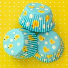 rubber duckie cupcake liners