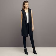 e3ef043061602 70 Best long black vest images