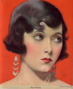 Mae Busch by F. Dahl