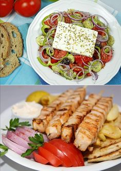 greek salat & souvlaki