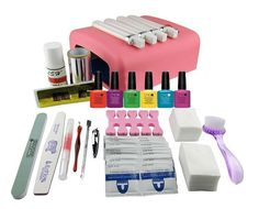 EM-127 DIY UV Gel Polish Set Soak Off Gel Kit UV 36W Curing Lamp File Nail Art Tools  free shipping