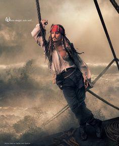 Johnny Depp - Annie Leibovitz, Disney Dream Portrait: Johnny Depp as Captain Jack Sparrow. Annie Leibovitz s Disney Dream Portraits. Welcome to the MouseInfo Photo Gallery. The Pirates, Pirates Of The Caribbean, Captain Jack Sparrow, Jake Sparrow, Patti Smith, Jessica Chastain, Blog Fotografia, Johny Depp, The Lone Ranger