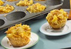 Everyone loves macaroni and cheese, but it tastes even better when baked in individual muffin-pan cups. They are a fun and creative way to enjoy this classic comfort food.