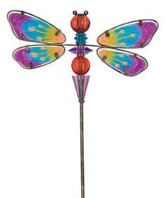 Loving this Dragonfly Glow Bead Garden Stake on #zulily! #zulilyfinds