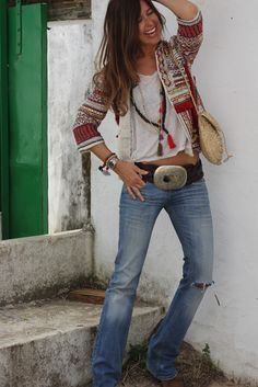 hippie chic - wouldn't wear the belt but I like the rest of the outfit