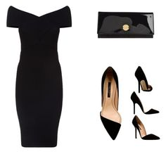 Black Total by cherazzi-f-m on Polyvore featuring moda, Maje and Jimmy Choo