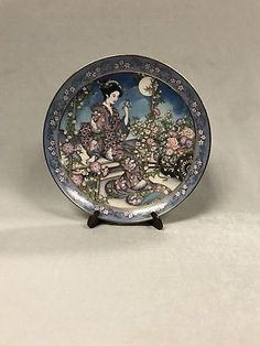 Royal Doulton Franklin Mint Collectors Plate Jasmine Flower Maiden Marty Noble