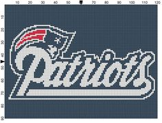 Free Download New England Patriots Nfl Afghan Crochet Graph Pattern | Stodgily