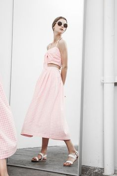 J.O.A. Matching Separates in Pink Gingham