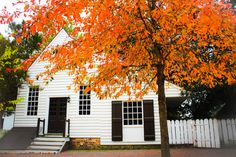 Fall in Colonial Williamsburg. Taken by me in October 2015.