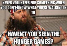 Never volunteer for something…
