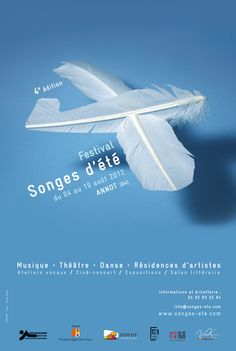 Poster: Poster Dreams of Summer 2012. White feathers used to illustrate an…                                                                                                                                                                                 More