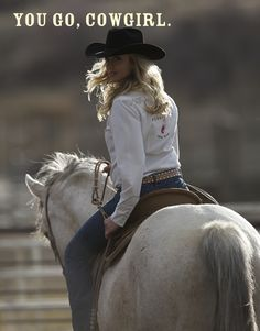 You go, cowgirl