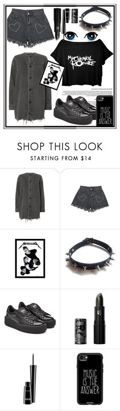 """🎤🎤🎤...."" by she-fashionlove ❤ liked on Polyvore featuring Alexander Wang, WithChic, Puma, Lipstick Queen, MAC Cosmetics and Casetify"