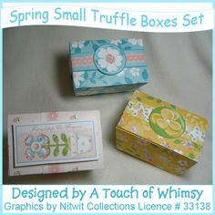 Boxes - cute little boxes for a sweet treat