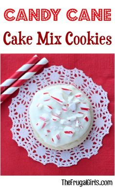 Candy Cane Cake Mix Cookie Recipe! ~ from TheFrugalGirls.com ~ the secret to the perfect Christmas Cookies is Candy Canes of course!  Just 5 ingredients and you've got the perfect festive holiday dessert that everyone will LOVE! #recipes #thefrugalgirls