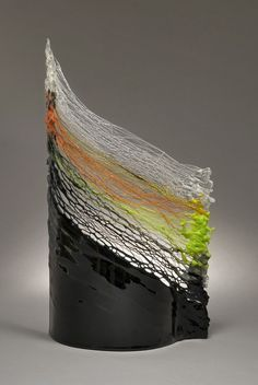 """Miri Admoni; Glass, 2008, Sculpture """"Fields"""""""