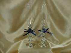 Wedding Toasting Glasses with Air Force Theme by StarBridal, $34.95