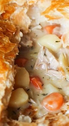 Creamy Chicken Puff Pie.