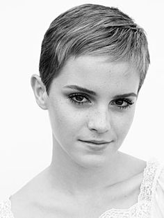 Emma Watson hairstyle pixie cut