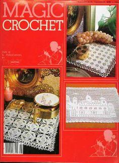 Magic Crochet Number August Crochet Patterns, Filet Crochet Church, Pillow Cushion Covers, Thread Doilies,Filet Crochet Birds by OnceUponAnHeirloom on Etsy Crochet Birds, Thread Crochet, Crochet Doilies, Crochet Stitches, Knitting Magazine, Crochet Magazine, Crochet Chart, Filet Crochet, Pattern Books