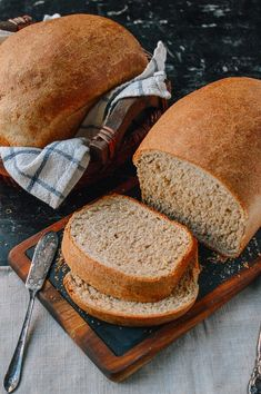 This whole wheat bread recipe makes perfect sandwiches and toast, and it has a rich, complex flavor. Give this whole wheat bread a try and you'll see how easy it is to make! Bread Machine Recipes, Bread Recipes, Cooking Recipes, Bread Machine Wheat Bread Recipe, Soda Bread, Multigrain Bread Recipe, Whole Wheat Sandwich Bread Recipe, Brown Bread Recipe, Homemade Sandwich Bread