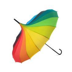 Lindy Lou Pagoda Umbrella - Rainbow