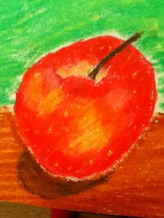 I love drawing still life apples, they are fun and challenging to draw, to do this drawing you must use oil pastels, and to mix colors simply rub a cuetip or cotton ball on the colors you want to mix