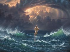 In the storm ~ Jesus walked on the water