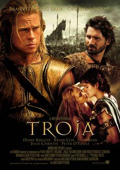 Troy - Brad Pitt Eric Bana Orlando Bloom Done! I wan in tears by the end of this movie, another amazing performance from Brad Pitt Film Movie, See Movie, Epic Film, Eric Bana, Great Films, Good Movies, Famous Movies, Troy Movie, Bon Film