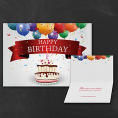Grand Celebration Business Birthday Cards Custom Imprinted Partyblockcarlsoncraft