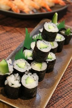 Cucumber Sushi Roll (aka KAPPA-Maki in Japan)|かっぱ巻き
