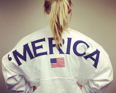 Merica Oversized Spirit Jersey with Monogram by AmericanGirlStyles, $50.00