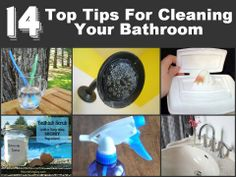 14 Ninja Tips For Cleaning Your Bathroom   http://www.diyhomeworld.com/14-top-tips-for-cleaning-your-bathroom/