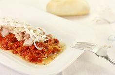 Receta de ensalada de pimientos rojos en Crock Pot. Receta paso a paso con imágenes y recomendaciones de elaboración. Recetas de ensaladas en slow cooker.