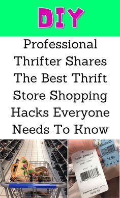 Amazing Life Hacks, Simple Life Hacks, Useful Life Hacks, Thrift Store Shopping, Shopping Hacks, Thrift Stores, Lifehacks, Things To Know, Good Things