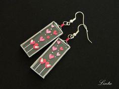 Unique valentine earrings  Info: lintu.nakit@gmail.com